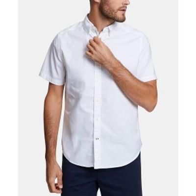ナウティカ メンズ シャツ トップス Men's Stretch Oxford Shirt Bright White
