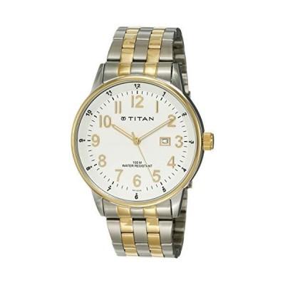 (新品) Titan Analog White Dial Men's Watch - 9441BM01J