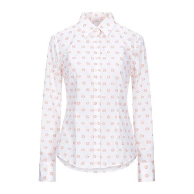 CAMICETTASNOB 柄入りシャツ&ブラウス  レディースファッション  トップス  シャツ、ブラウス  長袖 ホワイト