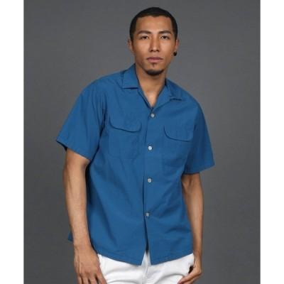 シャツ ブラウス [INDIGO LABEL] OPEN COLLAR S/SL SHIRT:インディゴレーベル 開襟 半袖シャツ