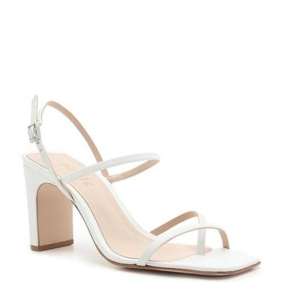 シュッツ レディース サンダル シューズ Amaia Leather Square Toe Dress Sandals White