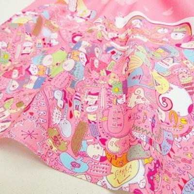 小風呂敷「SAKURA-FUN」50×50cm 木綿 wakameデザイン