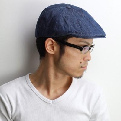 Psycho Bunny ブロークンデニム 春夏 サイコバニー キャスケット メンズ ハンチング帽 メンズ ブルー