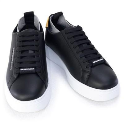 エンポリオアルマーニ EMPORIO ARMANI 靴 メンズ スニーカー ブラックマルチ(X4X308 XM485 N233 BLK+BLK+OCHRA+GREY L) 2020年秋冬