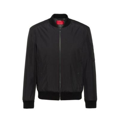 ジャケット ブルゾン HUGOロゴプリント ウォーターリペレント スリムフィット ボンバージャケット