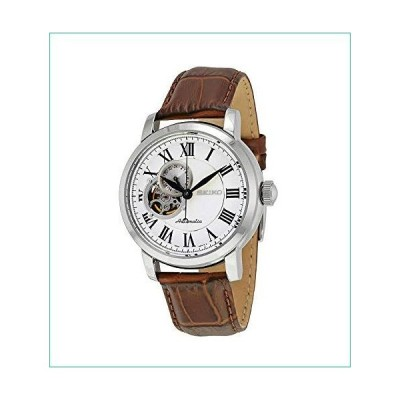 セイコー シルバーダイヤル ブラウンレザー 自動巻き メンズ腕時計 SSA231