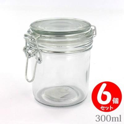 Glass Vessel ミニガラス密閉ボトル 300ml×6個 ソーダガラスキャニスター 6個セット