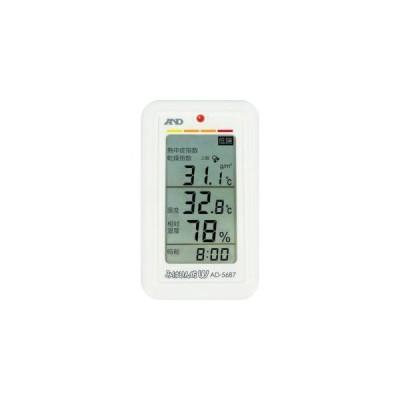 A&D AD5687 みはりん坊W 乾燥指数 熱中症指数表示付温湿度計 エーアンドデイ