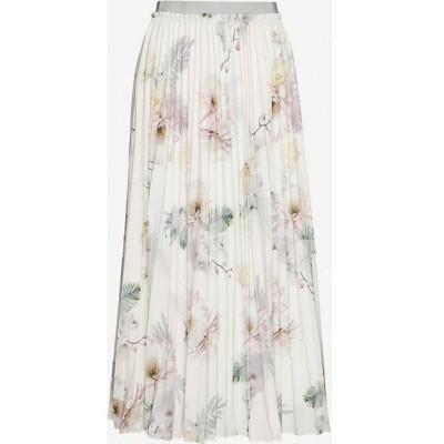 テッドベーカー TED BAKER レディース ひざ丈スカート スカート maziiy woodland-print pleated crepe midi skirt PL-PINK