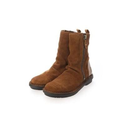 ヨーロッパコンフォートシューズ EU Comfort Shoes ミドルブーツ (ブラウン)