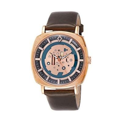 Akribos XXIV Men 's ak826rgbr Quartz Movement Watch withローズゴールドとブルーダイヤ