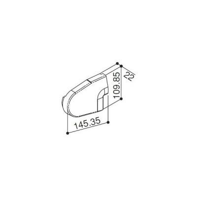 YKKAP住宅部品 前枠コーナーキャップF型用(HH-2K-31221)