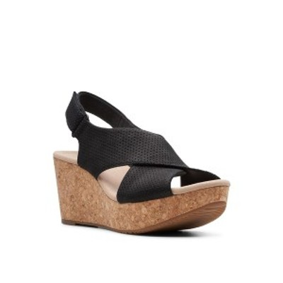 クラークス レディース サンダル シューズ Collection Women's Annadel Parker Wedge Sandals Black Suede