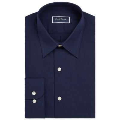クラブルーム Club Room メンズ シャツ トップス Classic/Regular-Fit Solid Dress Shirt Navy