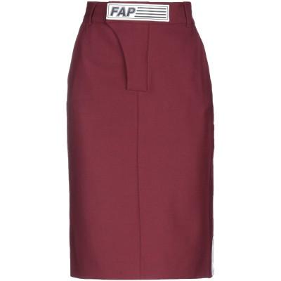 FAP  FILLES A PAPA ひざ丈スカート ボルドー 2 ポリエステル 53% / バージンウール 43% / ポリウレタン® 4% ひざ