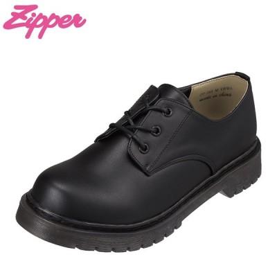 ジッパー Zipper ZP-260 レディース | カジュアルシューズ | マニッシュシューズ | オックスフォード | ブラック