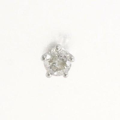 ピアス PT900 プラチナ (片耳) ダイヤ 0.22 総重量約0.5g