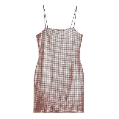 トップショップ TOPSHOP ミニワンピース&ドレス ピンク 10 ポリエステル 93% / ポリウレタン 7% ミニワンピース&ドレス