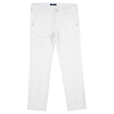 アントレ アミ ENTRE AMIS パンツ ホワイト 9 コットン 85% / ポリエステル 12% / ポリウレタン 3% パンツ