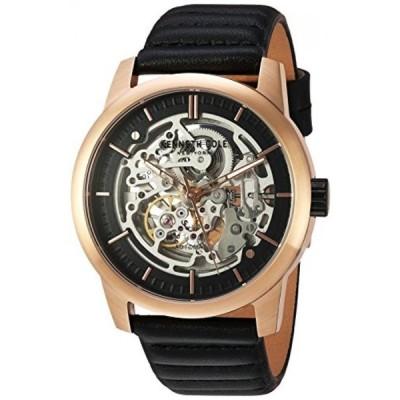 ケネスコール 腕時計 メンズウォッチ Kenneth Cole New York Men's ' Automatic Stainless Steel and Leather Dress Watch, Color:Black (Model: 10030789)
