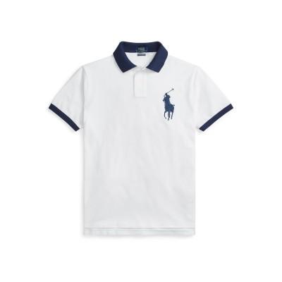 POLO RALPH LAUREN ポロシャツ ホワイト S コットン 100% ポロシャツ