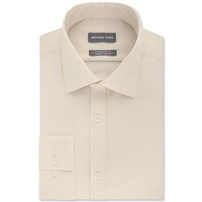 マイケルコース シャツ トップス メンズ Men's Classic/Regular Fit Non-Iron Airsoft Performance Solid Dress Shirt, Online Exclusive Biege