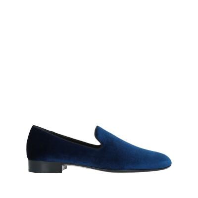 ジュゼッペ・ザノッティ・デザイン GIUSEPPE ZANOTTI モカシン ブルー 41 紡績繊維 モカシン
