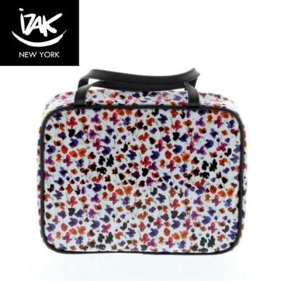 【送料無料】IZAK アイザック Vinyl Toiletry Bag コスメバッグ 化粧バッグ プチフラワー 小花柄