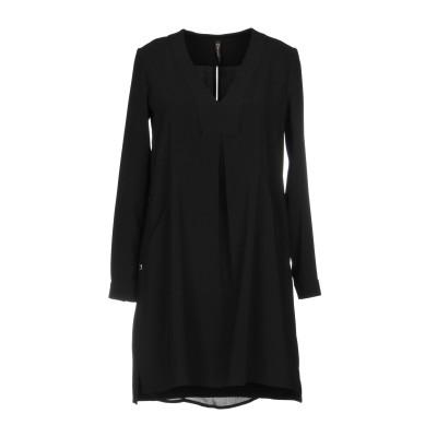 マニラ グレース MANILA GRACE ミニワンピース&ドレス ブラック 38 88% ポリエステル 12% ポリウレタン ミニワンピース&ドレス