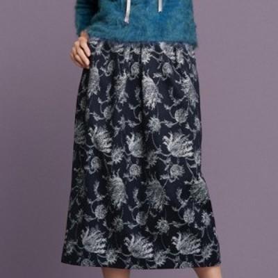 ファッション スカート プリント 柄スカート 「NIKKE」 マフデニム ジャカード スカート 205202