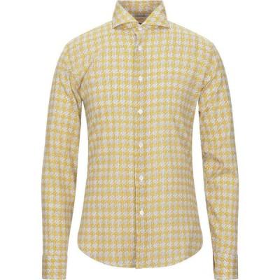 フェデーリ FEDELI メンズ シャツ トップス patterned shirt Yellow