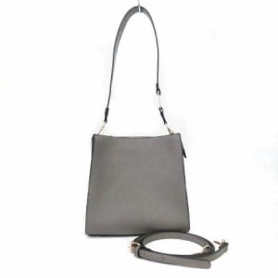 【中古】アネモネ  ANEMONE バッグ ショルダー 2way スクエア パイソン グレー 灰 鞄 レディース