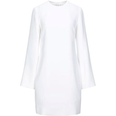 VICTORIA, VICTORIA BECKHAM ミニワンピース&ドレス ホワイト 8 ポリエステル 100% ミニワンピース&ドレス