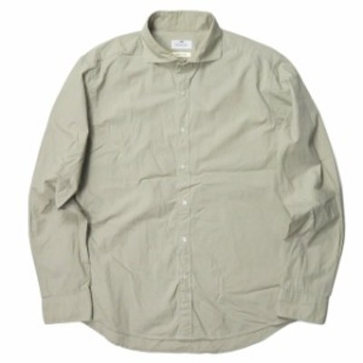 SCROLL スクロール 日本製 コットンワイドスプレッドカラーシャツ DPSA87 LL カーキ カッタウェイ トップス