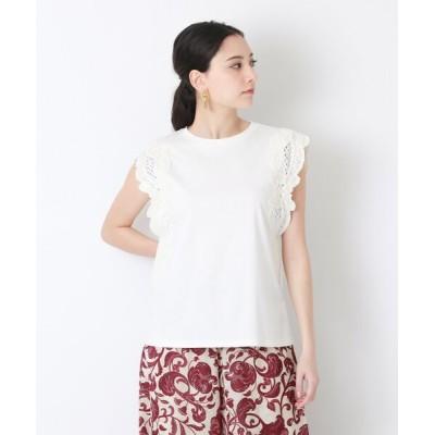EPOCA THE SHOP / 刺繍コンビ カットソー WOMEN トップス > Tシャツ/カットソー