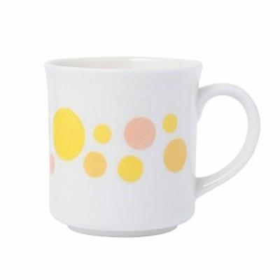 森修焼(しんしゅうやき)ドットマグ メロディー オレンジ 直径85×高さ90(mm) 601新品