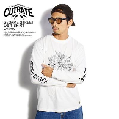 カットレイト Tシャツ CUTRATE SESAME STREET L/S T-SHIRT -WHITE-