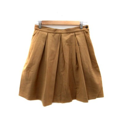 【中古】アダムエロペ Adam et Rope' スカート プリーツ ひざ丈 38 茶色 ブラウン /HO16 レディース 【ベクトル 古着】