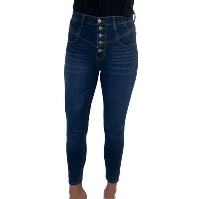 セレブリティピンク レディース デニムパンツ ボトムス Juniors' Curvy High Rise Cotton Corset Skinny Jeans