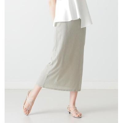 【ビームス ウィメン/BEAMS WOMEN】 BEAMS LIGHTS / クレープ プリーツ Iライン スカート