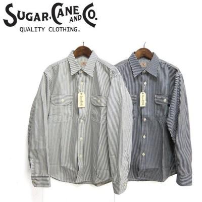 シュガーケーン SUGAR CANE SC27853 ヒッコリーストライプ ワークシャツ HICKORY STRIPE L/S WORK SHIRT