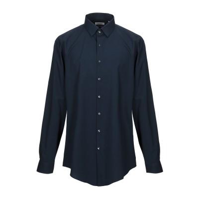 カルバン クライン CALVIN KLEIN シャツ ダークブルー 38 コットン 98% / ポリウレタン 2% シャツ
