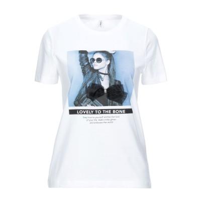 ONLY T シャツ ホワイト L オーガニックコットン 100% T シャツ