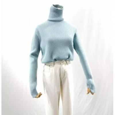 4COLOR セーター タートルネック 長袖 シンプル 上品 レトロ ベースシック 秋冬 アウターベース