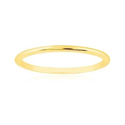 1mm Thin 14k Yellow Gold Wedding Band Ring, Size 5