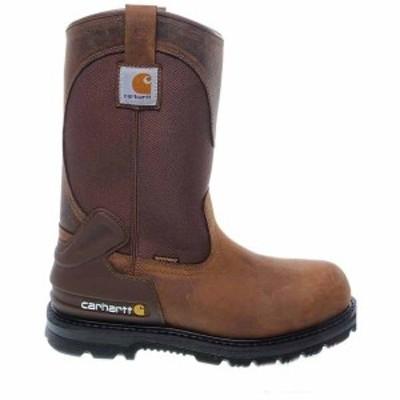 カーハート メンズ ブーツ・レインブーツ シューズ 11 Inch Waterproof Steel Toe EH Wellington Boot Bison Brown Oil Tan