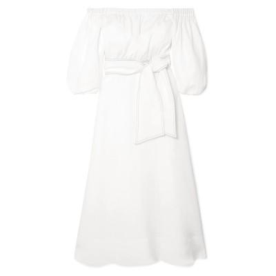 GABRIELA HEARST 7分丈ワンピース・ドレス ホワイト 36 リネン 100% 7分丈ワンピース・ドレス
