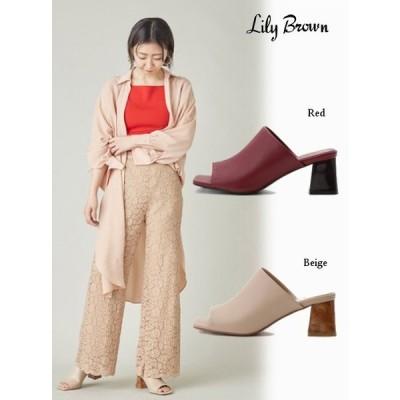 Lily Brown  リリーブラウン マーブルヒールミュール  21春夏 LWGS211306 サンダル