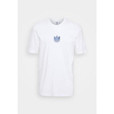 アディダス メンズ ファッション TEE UNISEX - Print T-shirt - white/crew blue