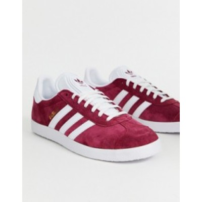 アディダス メンズ スニーカー シューズ adidas Originals Gazelle Sneakers In Burgundy Red